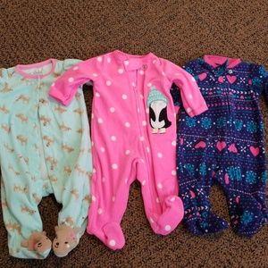 Newborn girl sleeper bundle